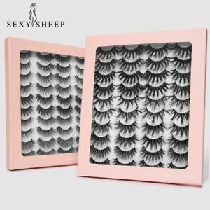 SEXYSHEEP 4/8/20 Pairs 3D Mink Lashes Natural False Eyelashes Dramatic Fluffy