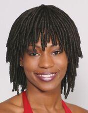 SHORT DREADLOCK BLACK BROWN 60'S 70'S WOMAN SHORT RASTA COSTUME WIG 2027 ADULT