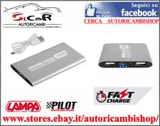 POWER BANK CARICA BATTERIA PORTATILE 2 PORTE USB - 4000 mAh - Con cavo Micro Usb