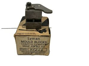 Lyman 2 Cavity Bullet Mould Mold 45266 Blocks Only Used and Cleaned