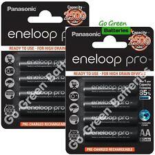 8 X Panasonic Eneloop Pro AA 2500 mAh Piles rechargeables prêt à utiliser HR06