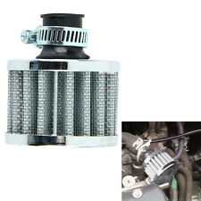 12mm Car Motorcycle Cold Air Intake Filter Turbo Vent Crankcase Breather Sliver