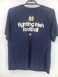 Notre Dame Fighting Irish Blue T Shirt Mens size L, Large