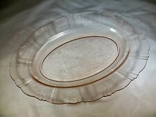 "MacBETH-EVANS GLASS CO. AMERICAN SWEETHEART PINK 13"" LONG OVAL SERVING PLATTER!"