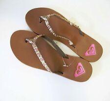 Roxy Womens Alani M Beaded Thong Sandals Gold Multi Sz 10 - NWT