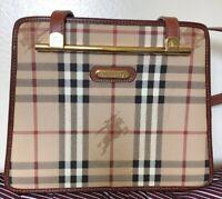 Authentic Vintage Burberry Haymarket Check Rare Medium Shoulder Handbag. Used.