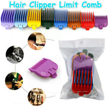 8Pcs Universal Hair Clipper Guide Limit Comb Trimmer Guards Attachment 3-25mm UK