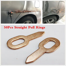 50Pcs OT Straight Pull Rings Car Dent Repair Spot Welder Consumable Accessory