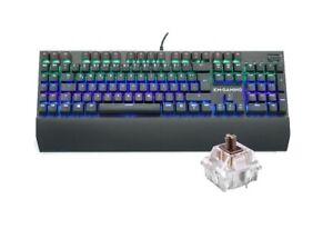 KM-Gaming K-GK2 mechanische Alu RGB USB Tastatur CherryMX Brown Switches / DE
