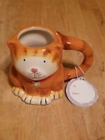 Orange Tabby Cat 16 Oz Coffee Tea Cocoa Mug Cup 3-D Figural Hand Painted New