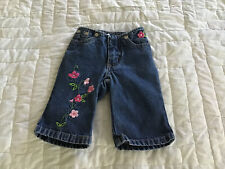 Old Navy Baby Blue Jeans 3-6 Months Embroidered Cute