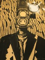 Arcade Fire - 2014 Rob Jones poster print Reflektor Tour SUNSHINE Silent Giants