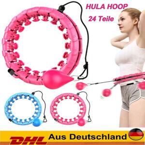 24 Teile Smart Hula Hoop Einstellbar Fitness Reifen Massagenoppen Bauchtrainer