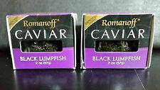 2 X Romanoff Caviar Black Lumpfish, 2 oz Jars