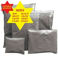 Grey Mailing Bags Strong Post Mail Postage Poly Bag Postal Self Seal Plastic