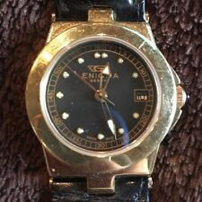 18k Yellow Gold Enigma Wristwatch Black Alligator Band