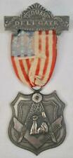 Junior Order Of United American Mechanics Delegate 1913 Medal Ribbon Badge Pin O