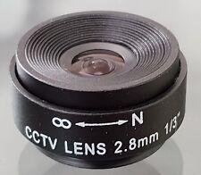 CCTV Camera 2.8mm CS C Mount Lens Fixed Iris F1.2 AU Stock NOS