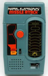Mattel Missile Attack vintage LED handheld electronic game. 1977