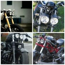 Motorcycle BlackTwin Headlight Dual Double Lamp Naked Dominator Street Fighter
