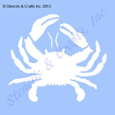"2"" CRAB MINI STENCIL STENCILS TEMPLATE TEMPLATES CRAFT MOLLUSK BEACH MARINE NEW"