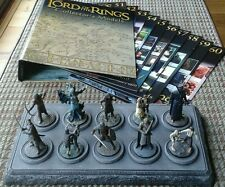 LOTR Collectors Models Issues #51-60 Inc Mags Binder & Base Eaglemoss LOT of 10