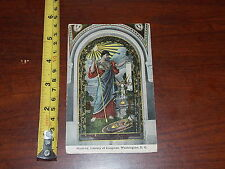 Postcard Rare Old Vintage Old Minerva Library Of Congress Washington Dc #2