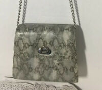 Vintage OHH! ASHLEY  Snake Skin Design Leather Crossbody Purse Handbag