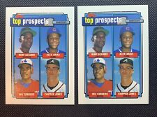 1992 Topps Top Prospects Shortstops #551 Chipper Jones Lot Of 2
