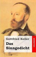 Das Sinngedicht by Gottfried Keller (2013, Paperback)
