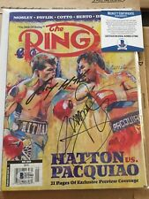 Ricky Hatton & Manny Paquiao Signed Boxing Ring Magazine - Beckett Authentic