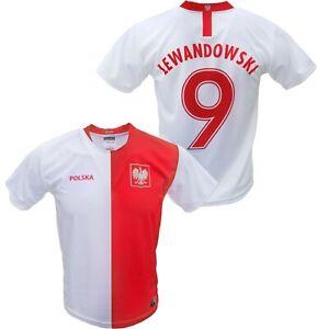 Mens Polska Robert Lewandowski #9 Replica Euro '20 Soccer Jersey Made in Poland