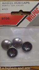 "8mm 5/16"" Domed Star Locking End Hub Caps Fits Vintage Pram or Pedal Car Wheels"