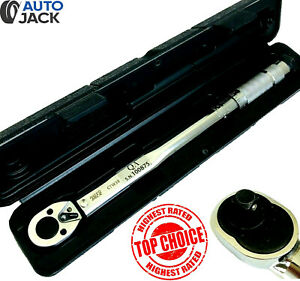 """Autojack 3/8"""" Torque Wrench Ratchet Square Drive Calibrated 19 - 110 Nm in Case"""