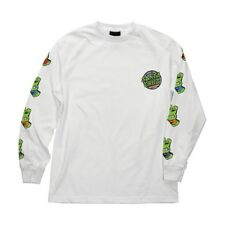 Santa Cruz x Teenage Mutant Ninja Turtles Sewer Dot Long Sleeve White Xxl