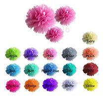 "6 Pcs Paper Pom Poms  8"" 10"" 15""  Wedding Party Home Hanging Decoration Flowers"