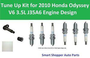 Cabin Air Filter, Oil Filter, PCV Valve, Spark Plugs Fit for 2010 Honda Odyssey