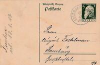 Postkarte verschickt von Sulzbach nach Hamburg Jahr 1913