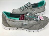 NEW! Skechers Women's Slip On Casual Shoes Grey Medium/Wide #22193 181E pz