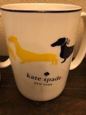 KATE SPADE WICKFORD DACHSHUND YELLOW 10 OZ MUG COFFEE CUP NEW RARE!