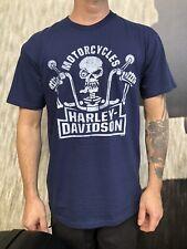 Harley-Davidson Hombre Infinito camiseta azul de cráneo Preston Inglaterra