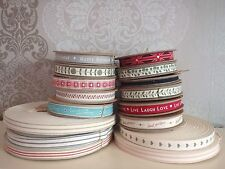NEW RIBBON EAST OF INDIA LOTS STYLES VINTAGE STYLE STRIPES FLOWERS BIRTHDAY