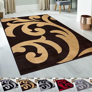 Living Room 3cm Thick Large Floral Rugs Bedroom Non Slip Hallway Runner Rug