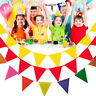 Multicolor String Triangle Flags Bunting Banners Home Party Hanging DIY Decor
