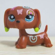 Littlest Pet Shop LPS Toys #1010 Brown Dachshund Dog Figure D4
