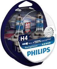 Philips Racing Vision H4 +150% More Light 12V Headlight Bulbs 12342RVS2 Two Bulb