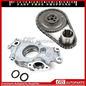 Timing Chain Kit & Oil Pump For 97-04 GM Chevy Cadillac 4.8 5.3 5.7L 6.0L Vortec