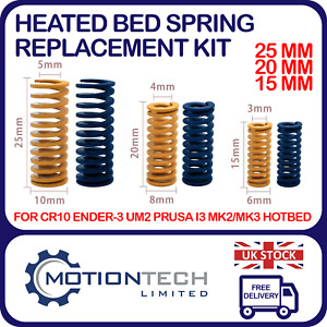 Heated Bed Leveling Springs Replacement 4 Pack 3D Printer CR-10 Ender CR-10S