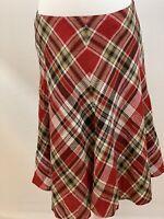JONES NEW YORK SIZE 8P Signature Women's Linen Skirt Plaid A-Line. EUC
