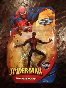 "Marvel Legends Mcfarlane Super Poseable 6"" Inch Dark Spiderman Action Figure"